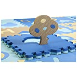 Partiss 28 Pcs Cute Numbers EVA Foam Play Mats Floor Puzzle Crawling Play Game Mat for Baby Kids Childre Toddlers -Bright Color,Environmental Material, Safe to Use(One Size,Number 03)