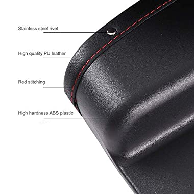 Lukzer 1 PC Leather PU Car Console Side Storage Organizer Seat Gap Filler Pockets Catch Caddy (Black) 8