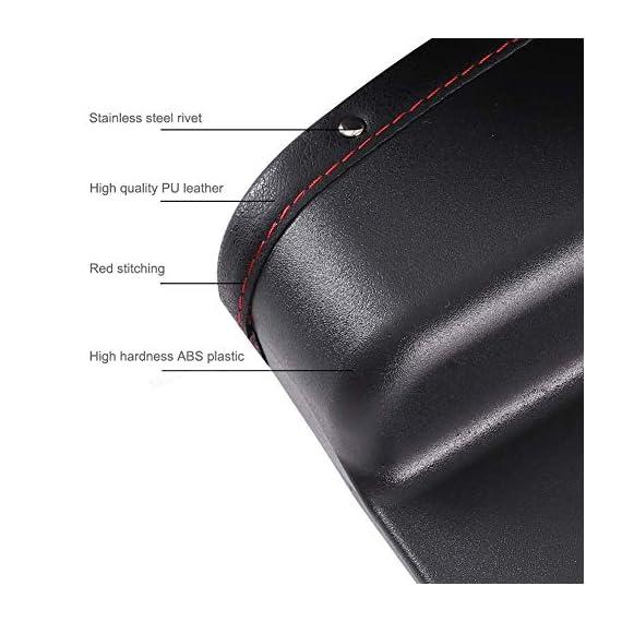 Lukzer 1 PC Leather PU Car Console Side Storage Organizer Seat Gap Filler Pockets Catch Caddy (Black) 3