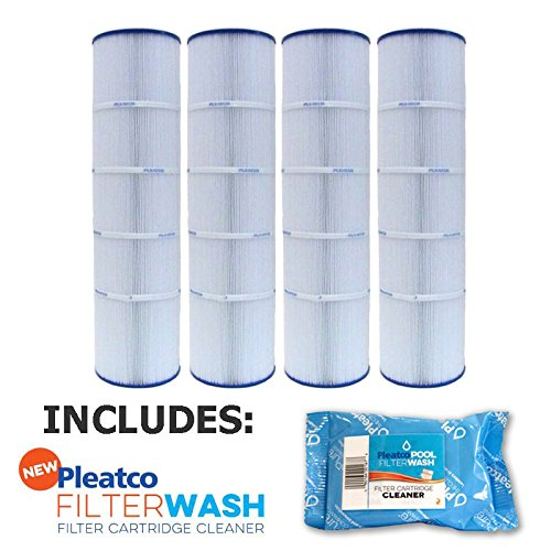 4 Pack Pleatco Cartridge Filter PJAN115-PAK4 Pack of 4 Jandy CL460 A0558000 w/ 1x Filter Wash by Pleatco