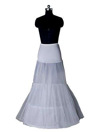 fe5465424e0 FakeFace Jupon A-ligne Blanc Polyester Longeur 2 Couches Slip Surpeficie Femme  Crinoline Robe de