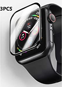 Super-GT 3-Pack for Apple Watch Screen Protector 42mm Series 1/2/3, Waterproof Full Covered Black Edge Anti-Scratch Anti-Bubble Ultra HD Flexible Film for iWatch Series 1/2/3 42mm