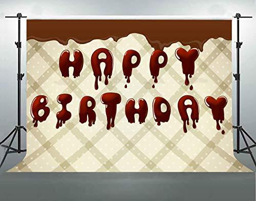 (F-FUN SOUL 7x5ft Birthday Cotton Backdrop Ice Cream White Gray Diagonal Stripes Backgrounds Children Birthday Party Photo Studio Props Banner LYFS378)