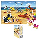 Floor Puzzles - 48 Piece Giant Floor Puzzle, Puppies at The Beach Jumbo Preschool Jigsaw Puzzles, Floor Puzzles for Kids Ages 3-5, 1.9 x 2.9 Feet