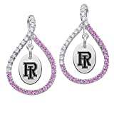 Rhode Island Rams Pink CZ Figure 8 Earrings