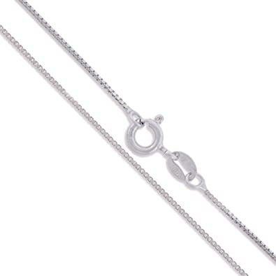 Sterling Silver Box Chain 1.1mm Genuine Solid 925 Italy Classic New Necklace zyZouTnT8W