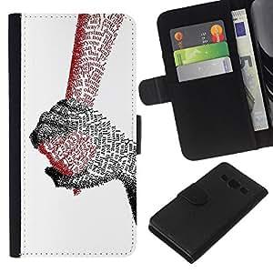 - QUOTE LETTER HOLDING COUPLE TRUE LOVE HANDS - - Prima caja de la PU billetera de cuero con ranuras para tarjetas, efectivo desmontable correa para l Funny House FOR Samsung Galaxy A3