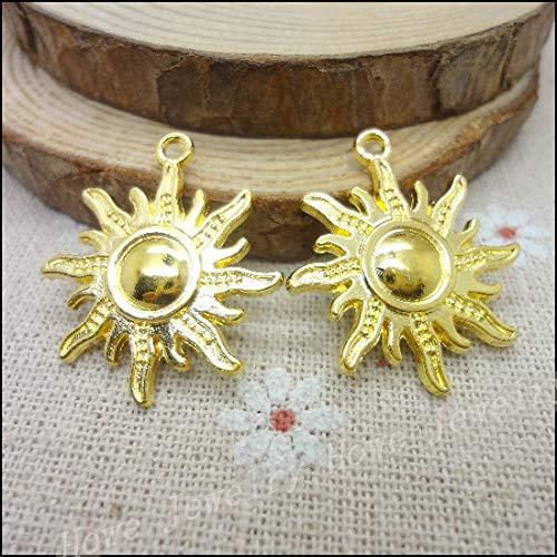 Charms Sun Pendants   Gold Plated Zinc Alloy Bracelets, Necklaces   DIY Metal Findings (50 Pcs) -