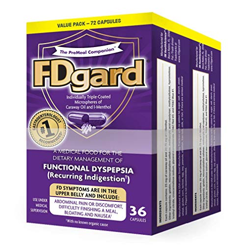 FDgard® for Functional Dyspepsia (Recurring Indigestion), 36 Capsules (2 Pack)