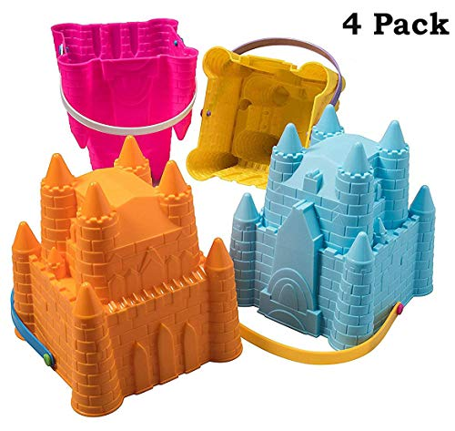 - Sand Castle Building Kit, Beach Toys, Beach Bucket, Sand Castle Molds for Kids, Gift Toy for Ages 1 2 3 4 5 6 7 8 9, Older Kids and Toddlers, Sandcastle Building Kit Pail for Kids