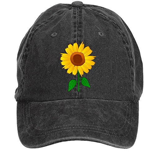 Sunflower Clipart Baseball Cap Velcro Adjustable Unisex Hat