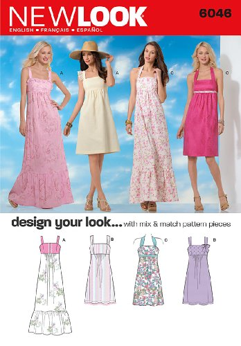 Pullover Dress Sewing Pattern (New Look 6046 Misses' Dresses Sewing Pattern, Size A)