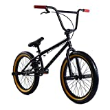 Elite 20' BMX Bicycle The Stealth Freestyle Bike (Black Gum)