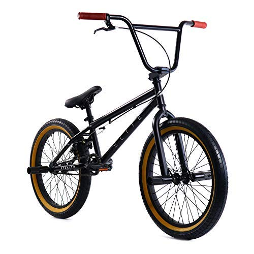 "Elite 20"" BMX Bicycle The Stealth Freestyle Bike New 2019 (Black Gum)"