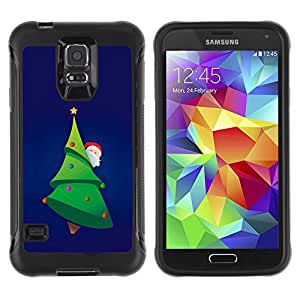 SHIMIN CAO@ Christmas Tree Picea Santa Green Beard Hat Rugged Hybrid Armor Slim Protection Case Cover Shell For S5 Case , G9006 Cover Case ,Leather for S5 ,S5 Cover Leather Case ,G9006 Leather Case