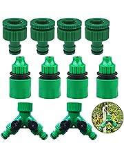 Tuinslang Splitter Set Tuinslang Splitter Y Outdoor Y Ventiel Tap 2 Way Garden Water Slangeinde Snelle Connector Water Diverter Adapter Met verstelbare klep Twee beekjes voor tuinberegening (10 stuks)
