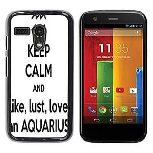 - Aquarius Constellation - - Hard Plastic Protective Aluminum Back Case Skin Cover FOR Motorola Moto G 1ST Gen XT1028 XT1031 Queen Pattern