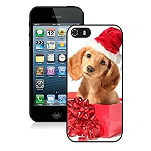 Individualization Iphone 5S Protective Cover Case Christmas Dog iPhone 5 5S TPU Case 4 Black