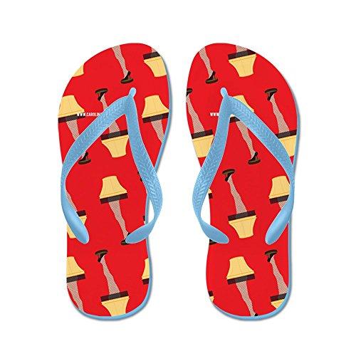 CafePress Leg Lamp A Christmas Story Movie - Flip Flops, Funny Thong Sandals, Beach (Sandals Fudge)