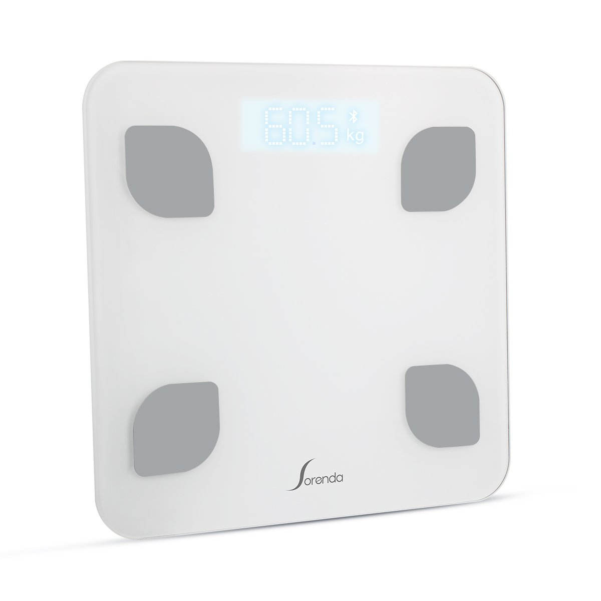 Yasolote Bluetooth Digital Scales for Body Weight, Fat Percentage, Muscle Weight, BMI, BMR, Bone Mass, Moisture Content, Visceral Fat Coefficient Calculation, Smart Health Manager with IOS/ Android APP Control