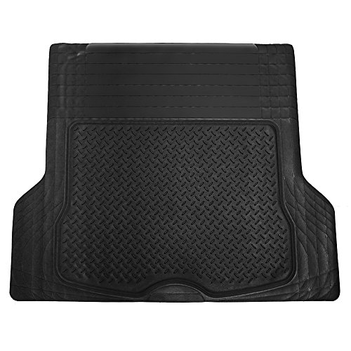 All Weather Heavy Duty Rubber - Universal Fit Trimmable Heavy Duty Rubber All Weather Liner Trunk Cargo Floor Mat
