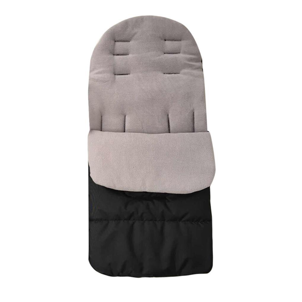 Palarn Baby New Universal Stroller Cushion Child Cart Seat Cushion Cotton Thick Mat (Gray)