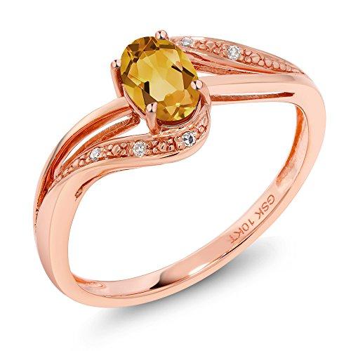 Gold Citrine Birthstone Ring - 8