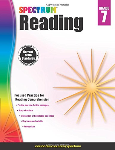 Spectrum Reading Workbook, Grade 7 cover