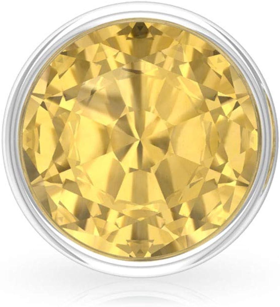 Aretes de cuarzo citrino A de 1,4 quilates, certificado SGL, pendientes redondos de piedras amarillas, pendientes apilables de oro para mujer, tornillo hacia atrás