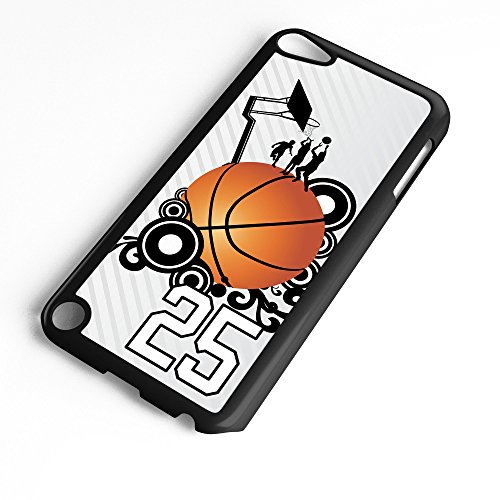 iPod Touch Case Fits 6th Generation or 5th Generation Basketball #8400 Choose Any Player Jersey Number 25 in Black Plastic Customizable by TYD - Colonels Basketball