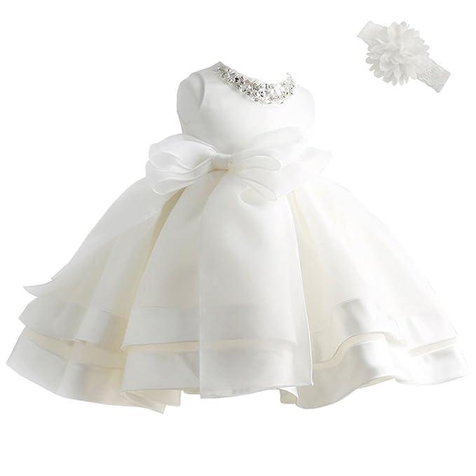 Amazon.com: COOZY bebé vestidos de niña para bautizo ...