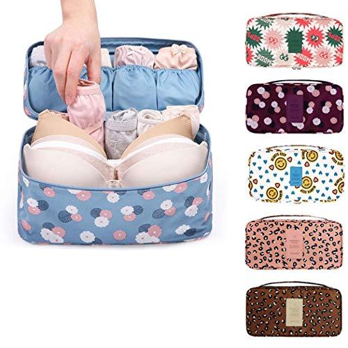 Fashion Portable Multi-Functional Travel Organizer Cosmetic Make-up Bag Luggage Storage Case Bra Underwear Pouch