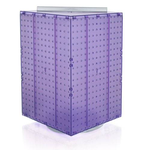 Pegboard Displays (Azar 701414-PUR Pegboard 4-Sided Revolving Counter Display, Purple Translucent Color)