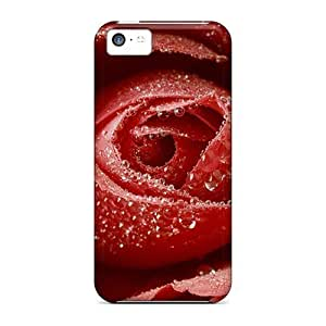 BestSellerWen Awesome Defender PC Hard For Iphone 5C Phone Case Cover - Dewy Red Rose