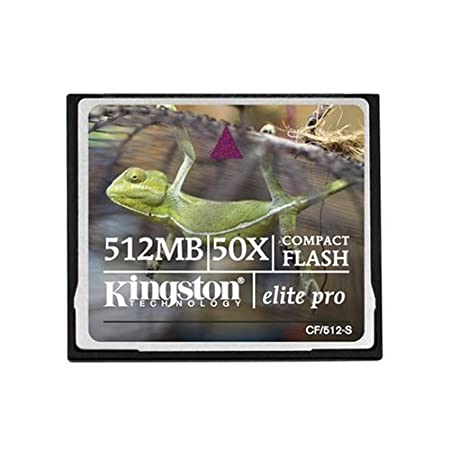 Kingston 512 MB CompactFlash Card  CF/512 S   Retail Package  available at Amazon for Rs.5545
