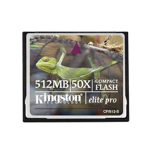 - Kingston 512 MB CompactFlash Card (CF/512-S) (Retail Package)
