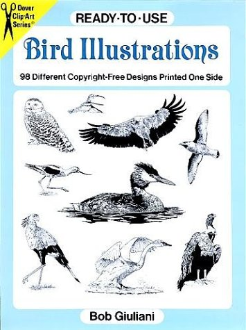 - Ready-To-Use Bird Illustrations: 98 Different Copyright-Free Designs Printed One Side (Clip Art Series)