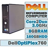 Dell Optiplex Desktop Computer 3.0 GHz Core 2 Duo, 8GB, 160 GB HDD, Windows 10 Home 64 bits (Certified Refurbished)