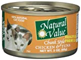 Natural Value Cat Food, Chunk Style Chicken and Tuna, 3-Ounce Cans (Pack of 24), My Pet Supplies