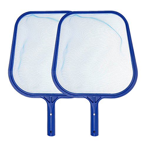 Oucan 2PC Pool Leaf Rake Net Swimming Pool Skimmer Net Pool Silt Rake Leaf Skimmer Net Pool Leaf Scoop Fine Mesh Skimmer for Cleaning Swimming Pool Leaves & Debris by Oucan