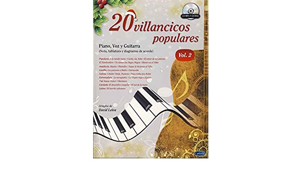 20 Villancicos Populares: Piano, Voz Y Guitarra - Vol.2 Libro/CD ...
