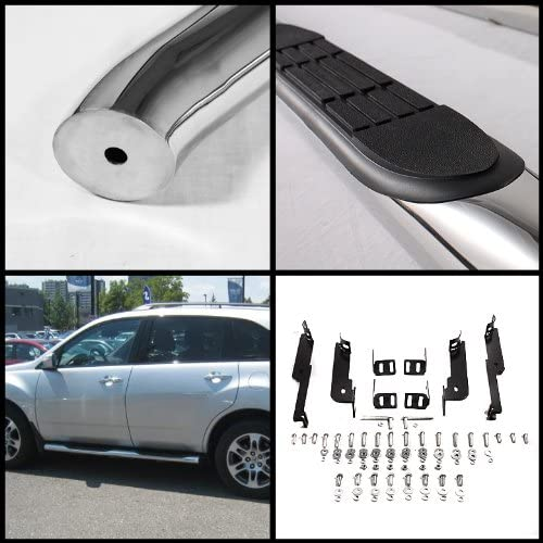 Spyder Auto SSB-NP-A07S1200 3 Polished T-304 Stainless Steel Round Side Step Bar for Nissan Pathfinder
