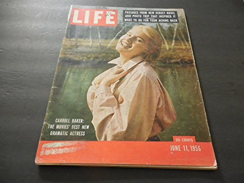 Life June 11 1956 Carroll Baker, Buddha Turns 2,500, Wake Forest, Smoking