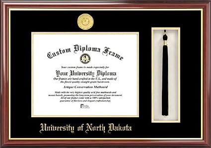 Amazon.com : University of North Dakota - Gold Medallion - Tassel ...