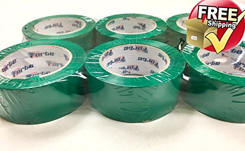 "GREEN Color Packing Tape – 3"" x 110 Yds. Per Roll 2.0Mil, (Pack of 12 Rolls) Carton Sealing Tape – Boxing Tape - Same day -"