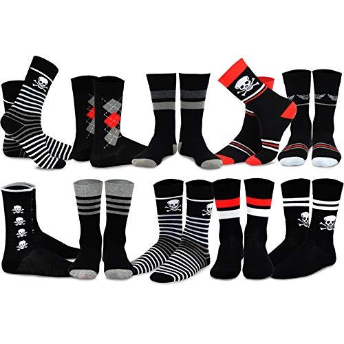 TeeHee Men's Cotton Crew Fashion Socks - 10 Pairs (S/51055+51056)10-13 Men's (US shoe sizes 8-13 ()