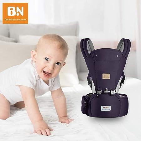 Einstellbar f/ür Neugeborene und Kleinkinder von 0 bis 3 Jahren Kindertrage Multiposition Dunkelblau mit Abnehmbarer Kapuze ERWEY Babytrage Ergonomische mit Breiter H/üftsitz Reine Baumwolle