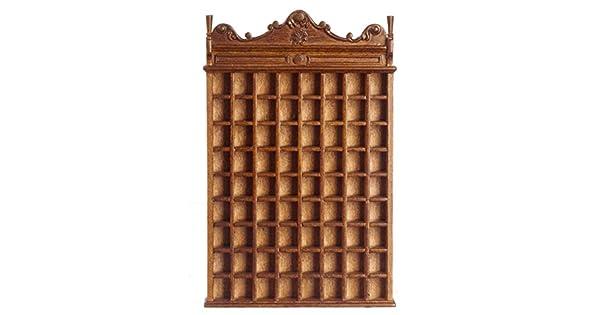 Dollhouse Miniature 1:12 Scale Walnut Victorian Shaving MUG Cabinet #P6413 AZTEC IMPORTS
