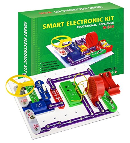 Intsun Electronics Discovery Kit, Smart Electronics Block Kit,Educational Science Kit Toy,Great DIY Building Blocks Electric Circuits for Children Age 8+