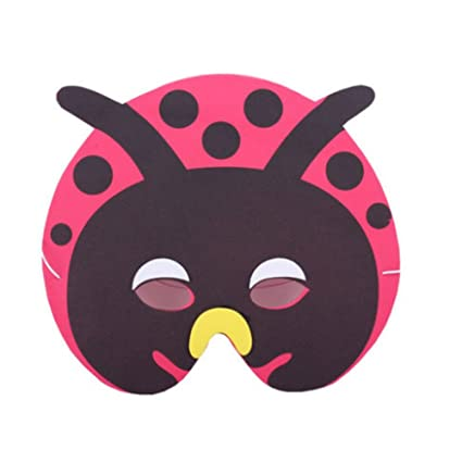 10 PCS Childrens Performance Props Children animal masks,Beetle